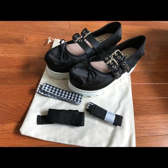 bd5dffd9b4bb Authentic Miu Miu ballerina platform shoes 39